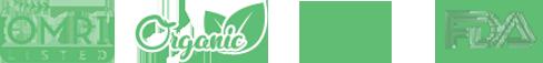 omri, organic, usda, fad logos